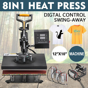 8in1 Digital Heat Press Machine Transfer Mug Printing Dual Digital Control