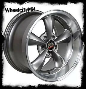 18 X10 17x9 Anthracite Ford Mustang Bullet Oe Replica Wheels1994 2004 5x4 5 22