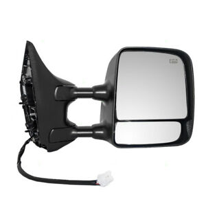 Passengers Tow Power Mirror Heated Telescopic Dual Arms For 04 15 Nissan Titan