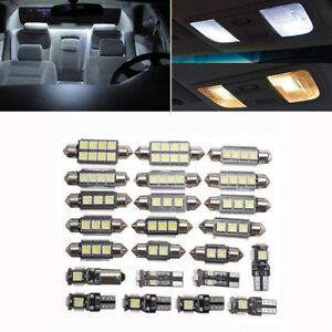 23x Car Interior Dome Map White Led Light Bulb Kit Auto Door Mirror Trunk Lights