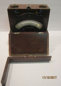 Vintage General Electric Type Dp 2 Dc Voltmeter Wooden Case