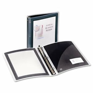 New Avery 1 5 Black Flexi view Round Ring Binders 12pk Free Shipping