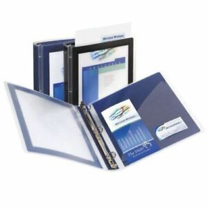 New Avery 1 Navy Blue Flexi view Round Ring Binders 12pk Free Shipping