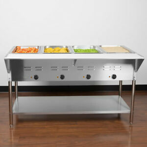 57 4 Pan Restaurant Electric Steam Table Buffet Food Warmer Commercial 208 240v