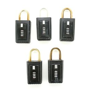 5 Lockbox same Code For Key Storage Realtor Real Estate 4 Digit Lock Box