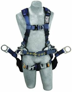 3m Dbi sala Exofit Xp 1110303 Tower Climbing Harness Front back side D rings
