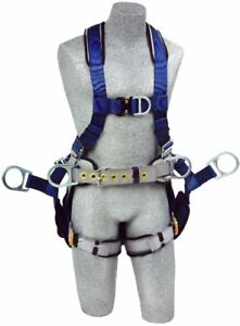 3m Dbi sala Exofit 1108652 Tower Climbing Harness Front back side D rings Bel