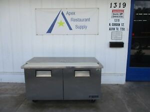 True Flat Top 115v Refrigerated 60 Sandwich pizza Prep Table 3416