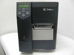 Zebra Z4m Plus Themal Barcode Printer W Network Card