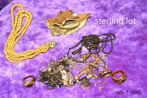 Scrap Silver 925 Sterling Solid Fine Silver Lot 130 Grams Plus Sterling Clasp