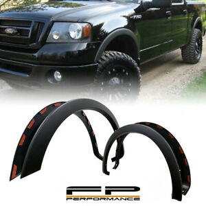 For 2004 2008 Ford F150 Factory Oe Style Styleside Pickup Black Fender Flares