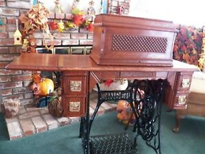 Vintage 1893 Singer Treadle Sewing Machine Table Fully Restored