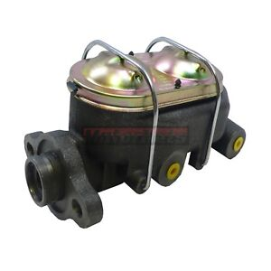 Dual Bail Cast Iron Gm 1 Bore Master Cylinder 4 Port 3 8 Street Hot Rod Chevy