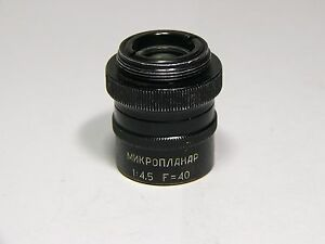 Microscope Objective Microplanar F 40 1 4 5 High Resolution Lens Lomo Factory
