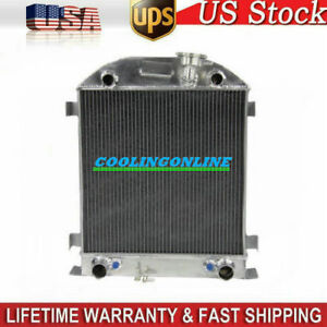 3row Core Aluminum Radiator For Ford Model A W Flathead Flat Head 1928 1929 Cl
