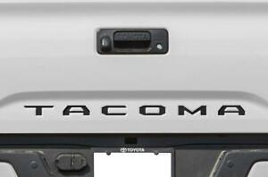 Black Tailgate Insert Letters Decal Vinyl Stickers For Toyota Tacoma 2016 2021