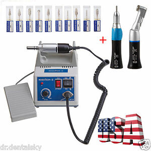 Dental Marathon Micromotor 35k Rpm Electric Motor 2 Handpiece 10 Drill Any