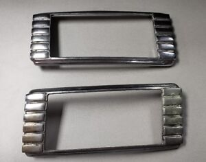 1941 41 1942 42 Packard Clipper Chrome Tail Light Bezels Left Right Oem