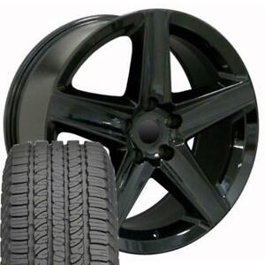 20 Rims Tires Fit Jeep Dodge Grand Cherokee Black Wheels Gy Tires 9082 Fits Dodge