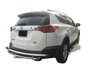 Apu 2006 2018 Toyota Rav4 Stainless Rear Bumper Guard Protector Double Layers