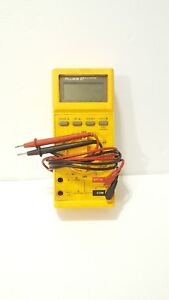 Fluke 27 Digital Industrial Multimeter With Probes Circuit Tester Electrical