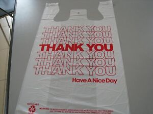 Thank You T shirt Bags White Plastic Shopping Bags 50 1000