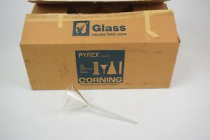 Lot Of 10 Pyrex 75mm Glass Funnels Fluted