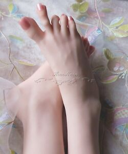 New 3d Lifelike Silicone Mannequin Foot Clones Arbitrarily bent posed soft 3902