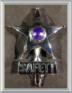 Safety Star License Plate Topper Blue Chevy Ford Buick Hudson Aaa Felix N Nos