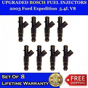 8x Performance Increase 12 Hole Bosch Fuel Injectors 03 Ford Expedition 5 4l