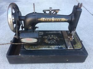 Vintage New Home Sewing Machine Year 1887 Excellent Condition With Pedal