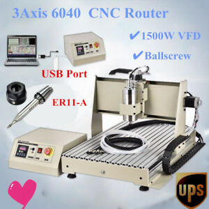 3 Axis 6040 Cnc Router Engraver Engraving Milling Drilling Usb Machine 3d Cutter
