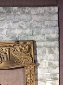 Complete Set Vintage Victorian Antique Fireplace Tile Mantle Tiles Aet Co Sage