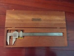 Starrett 24 Vernier Caliper No 122 Precision Tool In Wooden Box