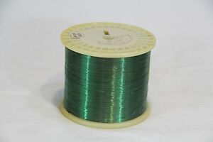 33 Awg Gauge Magnet Wire 40000 Ft Green Nylon Copper Coil Winding 6 6lbs Huge