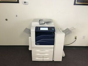 Xerox Workcentre 7830 Color Copier Machine Network Printer Scanner Fax Finisher