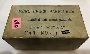 Vintage Micro Chuck Parallels 1 x2 x4 Japan Matched Pair Machinist Tool