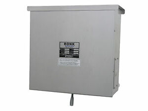 Double Throw 400 Amp Generator Transfer Switch Ronk 9406 Pole Mount