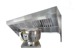 8 Food Truck Or Concession Trailer Exhaust Hood System With Fan