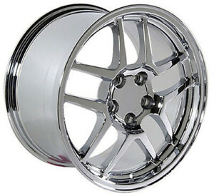 18x10 5 17x9 5 Wheels Fit Camaro Corvette C5 Z06 Chrome Rims W1x Set