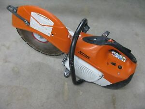 Stihl Ts420 Gasoline Concrete Saw W 14 Diamond Disk With Water Connection