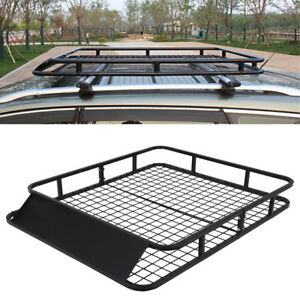 48 X 40 Universal Travel Suv Top Roof Rack Basket Luggage Carrier Cargo Holder