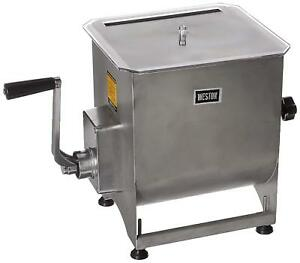 Weston Stainless Steel Meat Mixer 44 pound Capacity 36 2001 w Removable Mixi