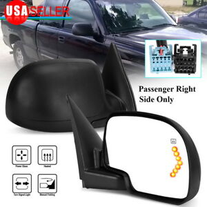 Passenger Right Side Mirror For 2003 2006 Chevy Gmc Truck Power Heat Led Signal