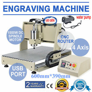 Usb 4 Axis 6040 1500w Cnc Router Engraver Carving Milling Machine Metal Cutter