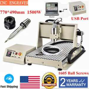 Usb 1500w Vfd Cnc 6040 Router 3 Axis Engraver Metal Milling Drill Machine Er11