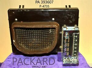 Old Packard Philco Pa 393607 P 4735 Original Car Dash Radio Factory Audio Tube