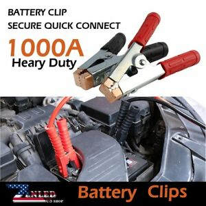 Car Truck Jumper Cable Ends Extreme Heavy Duty 2pcs 1000 Amp Rated