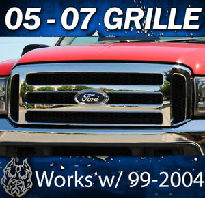 2006 F250 Ford Chrome Grill Conversion Fits 1999 2004