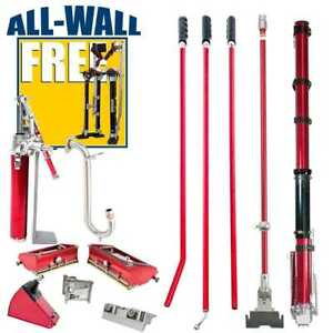 Level 5 Full Set Drywall Taping Tools W free Stilts Shirt zancos Gratis